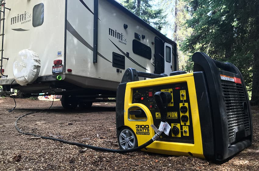 portable generator for an RV