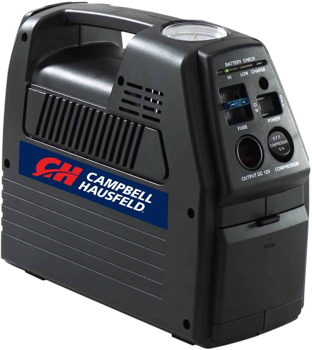 Campbell Hausfeld 12 Volt Inflator, Rechargeable, Compressor for Tire Inflation