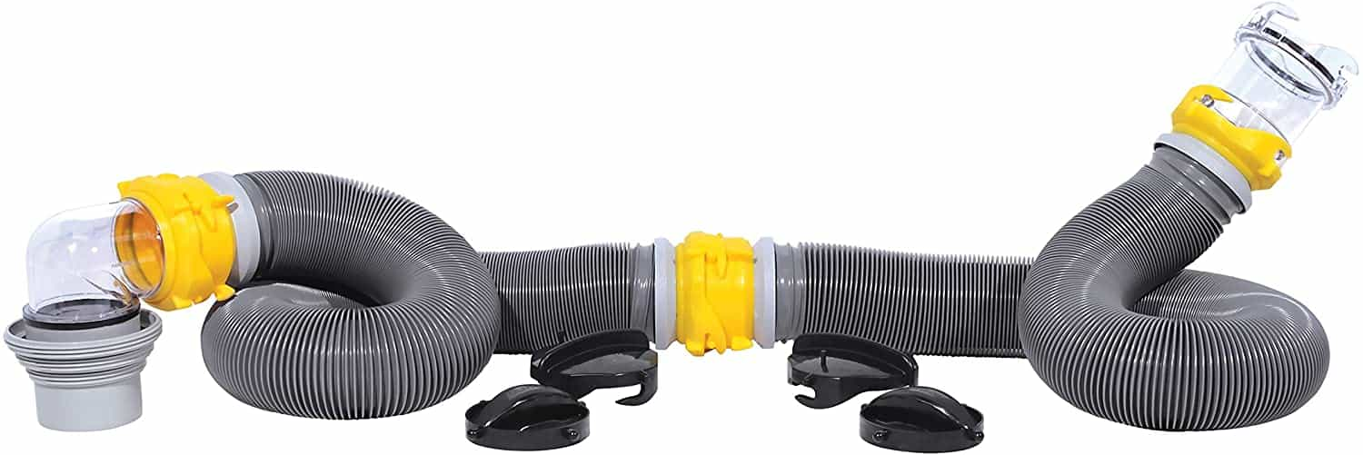 Camco 39658 Deluxe 20' Sewer Hose Kit with Swivel Fittings