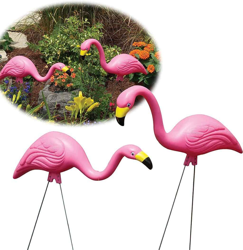 Bloem Pink Flamingo Garden Yard Statue 2-Pack