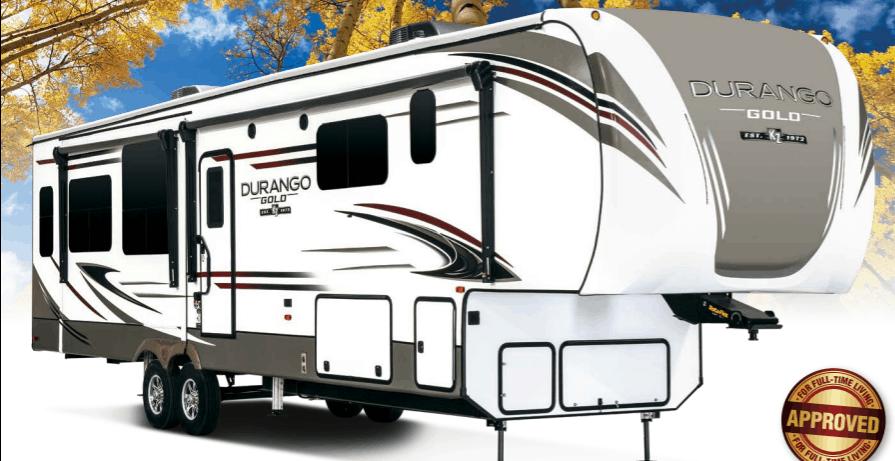 Exterior stock photo of Durango 5th wheel.