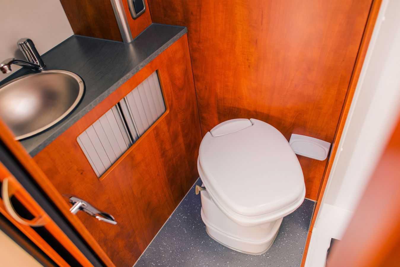 An Rv Bathroom While Driving