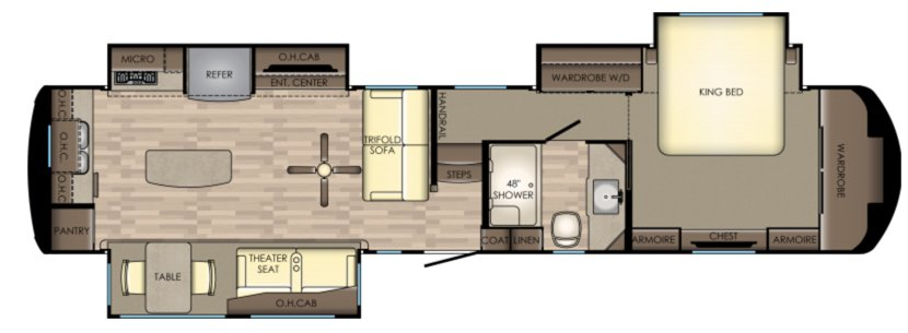 5 Fifth Wheel Floor Plans With Rear Kitchens Camper Report