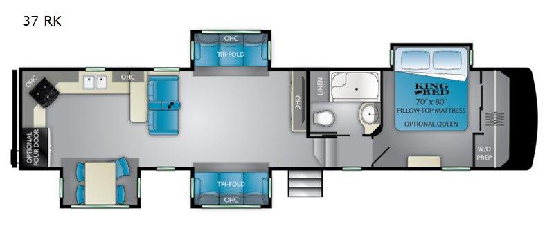 Heartland RV floorplan.