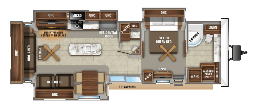 9 Great Travel Trailer Floor Plans With No Annoying Dinettes Camper Report