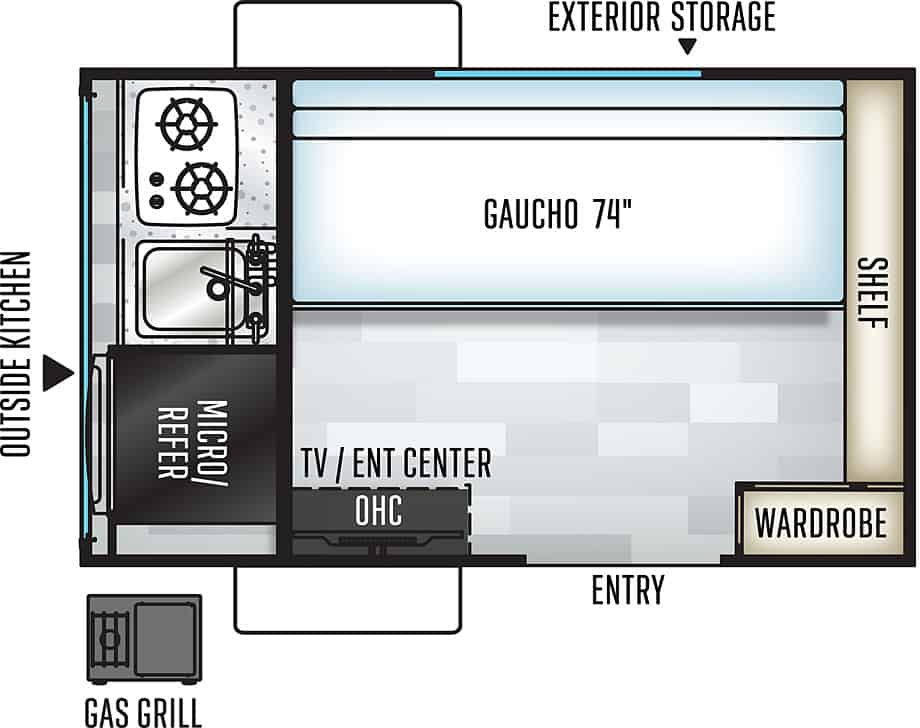 Rockwood Geo Pro floorplan.