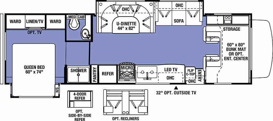 Forest River Sunseeker Class C floorplan.