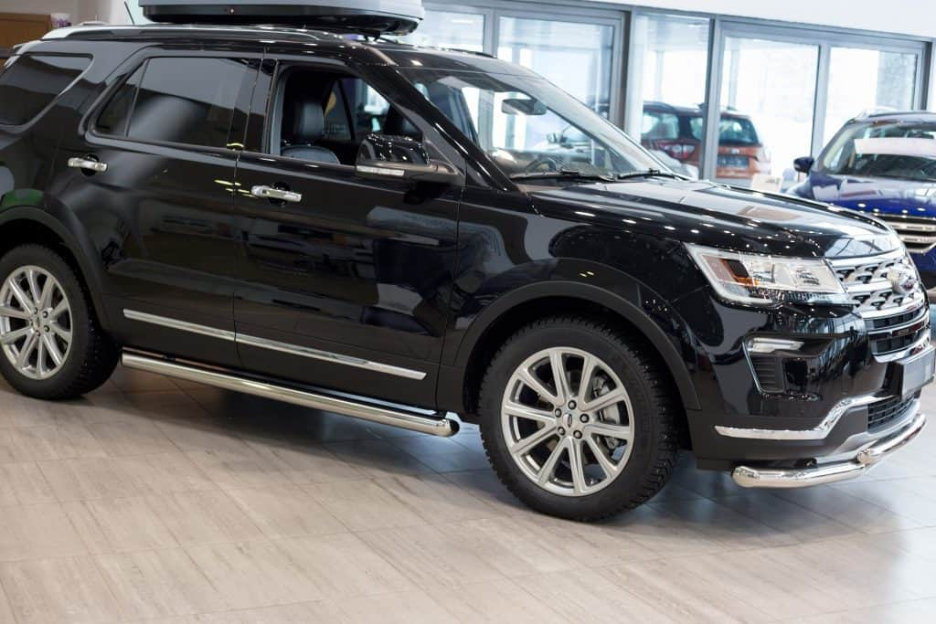 The popular Ford Explorer can pull a small travel trailer