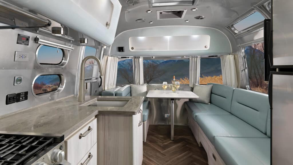 Get a look at the new Coastal Cove interior decor in Airstream's 2021 International travel trailer. All photos by Airstream