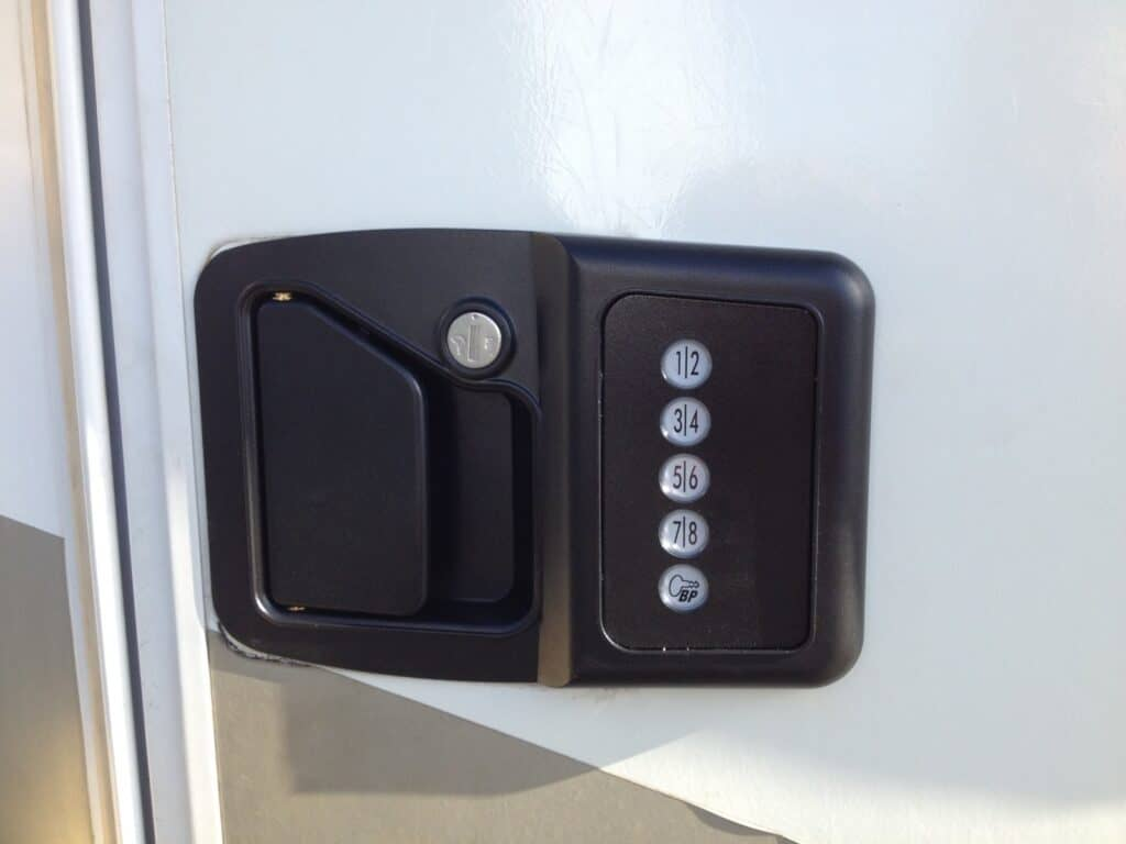 A keyless entry system may prevent you from getting locked out of an RV. Photo via RV LIFE
