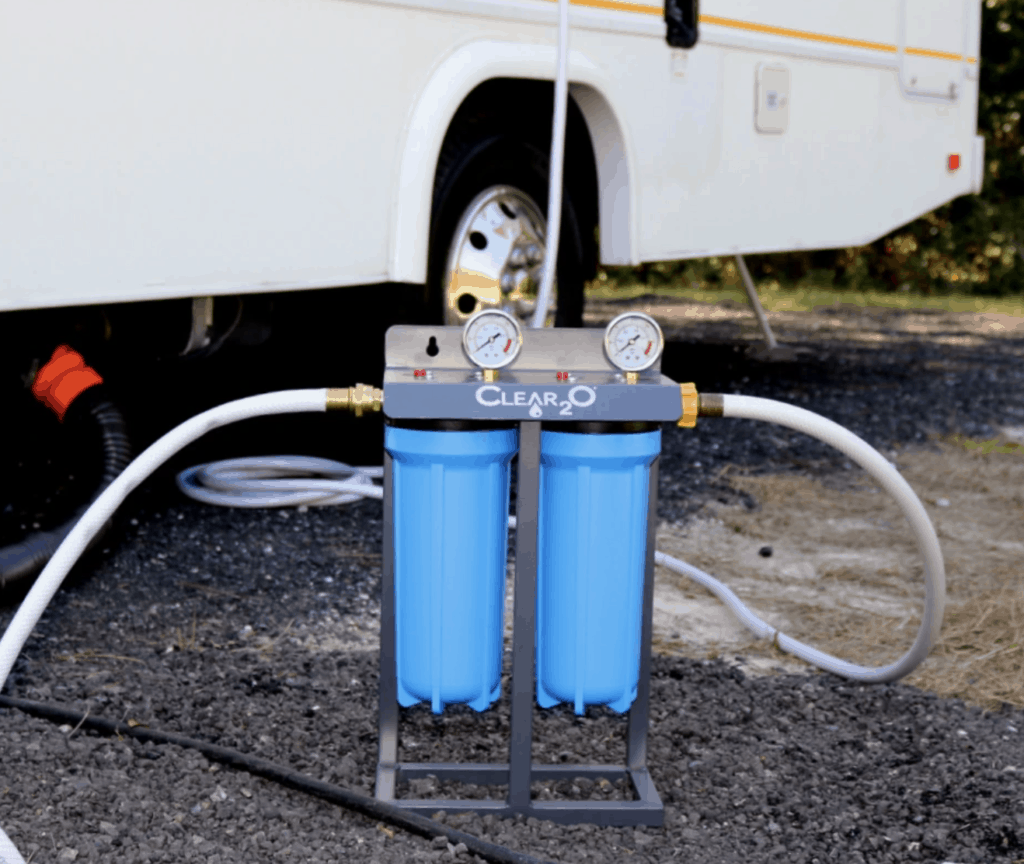 Clear2O canister systems for RVs provide another excellent water filtering option for RVers
