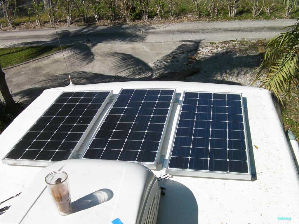 RV solar systems have pros and cons. Photo via iRV2 Forums