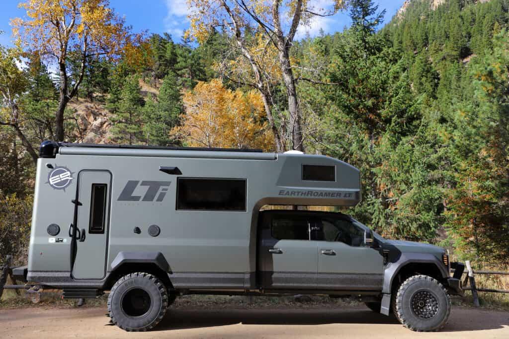 The Earthroamer LTI overland truck camper.