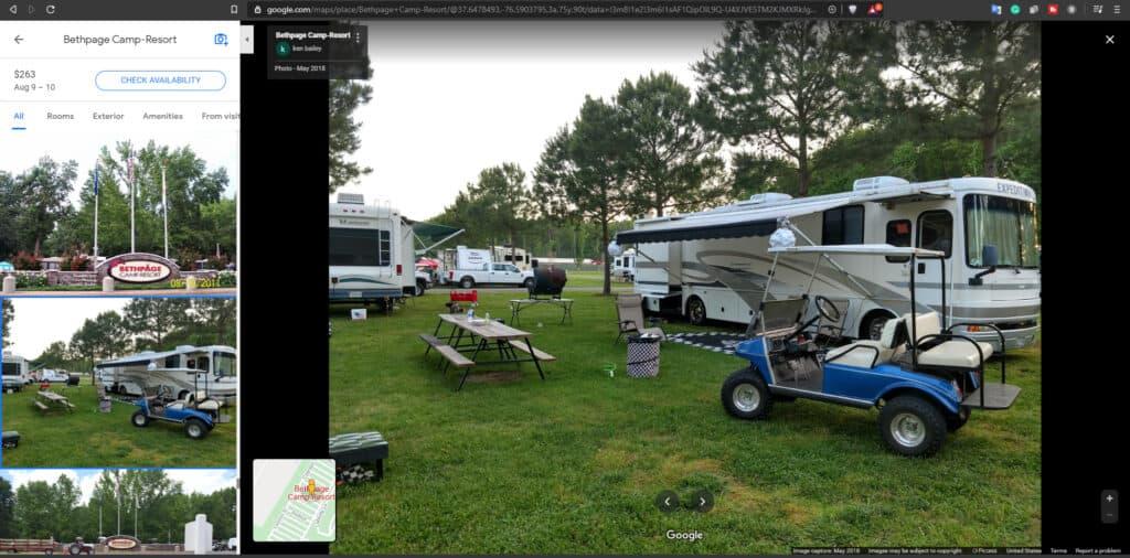 Screen shot of Google Photos of Bethpage Camp-Resort