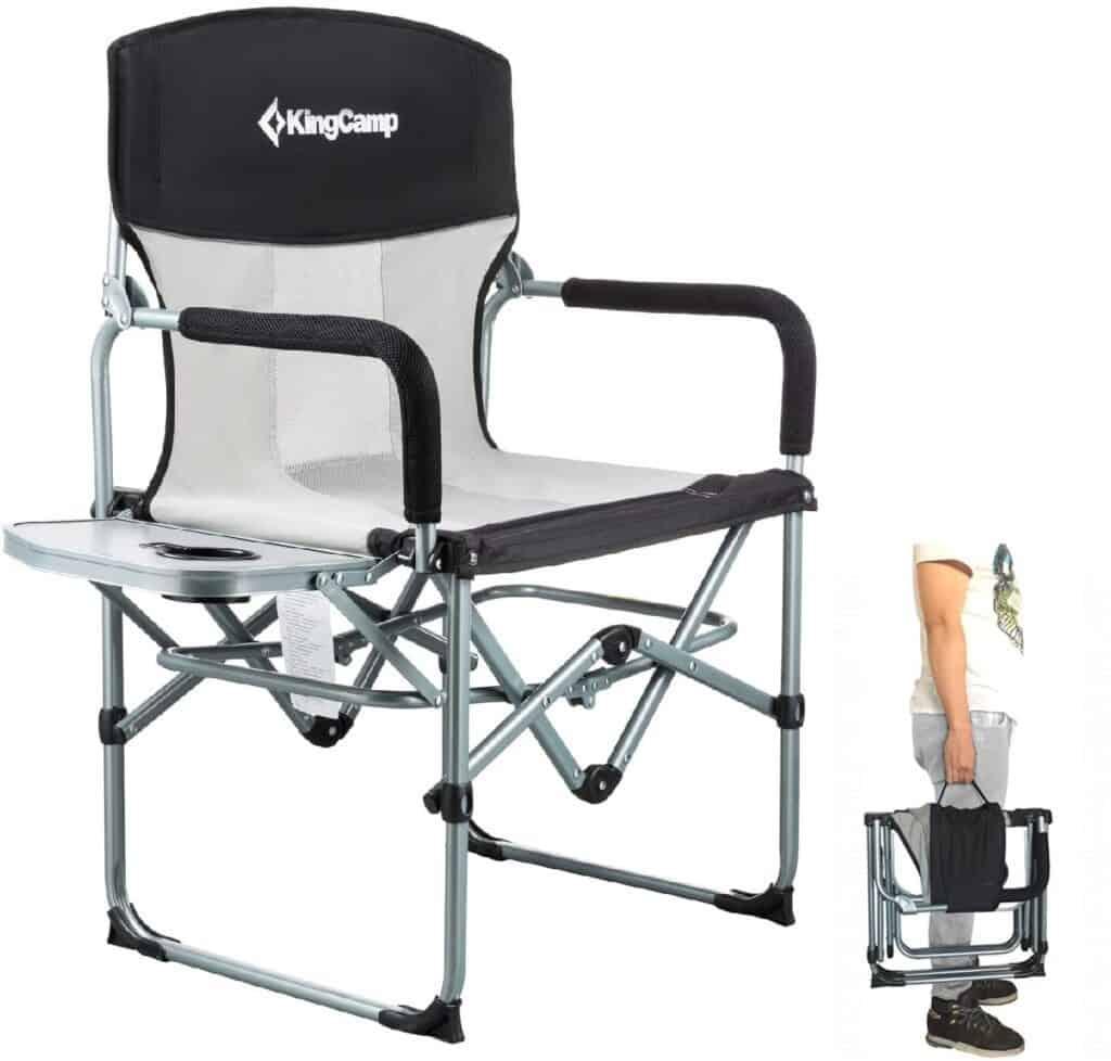 A KingCamp folding camping chair.