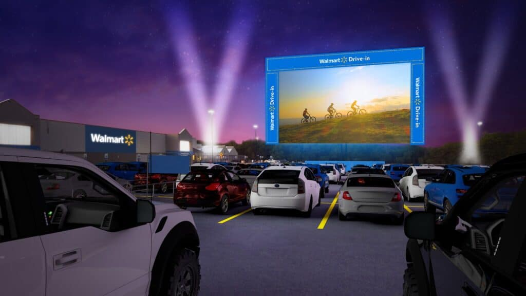 Walmart turning away RVers to host drive-in movies