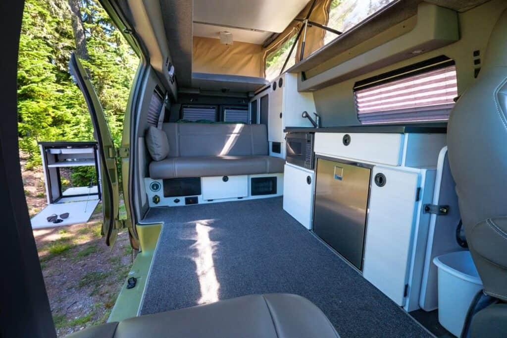 Sportsmobile Classic Interior.