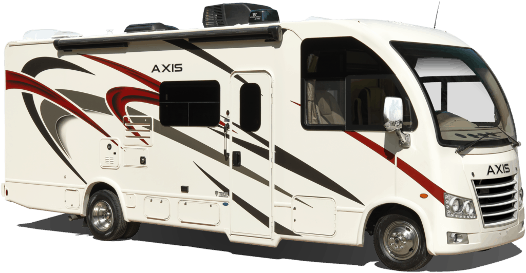 Stock image of Thor Axis small class A motorhome.