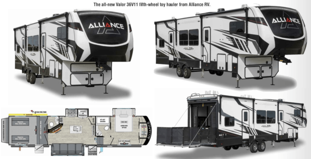 Alliance RVs are a part of this digital RV show