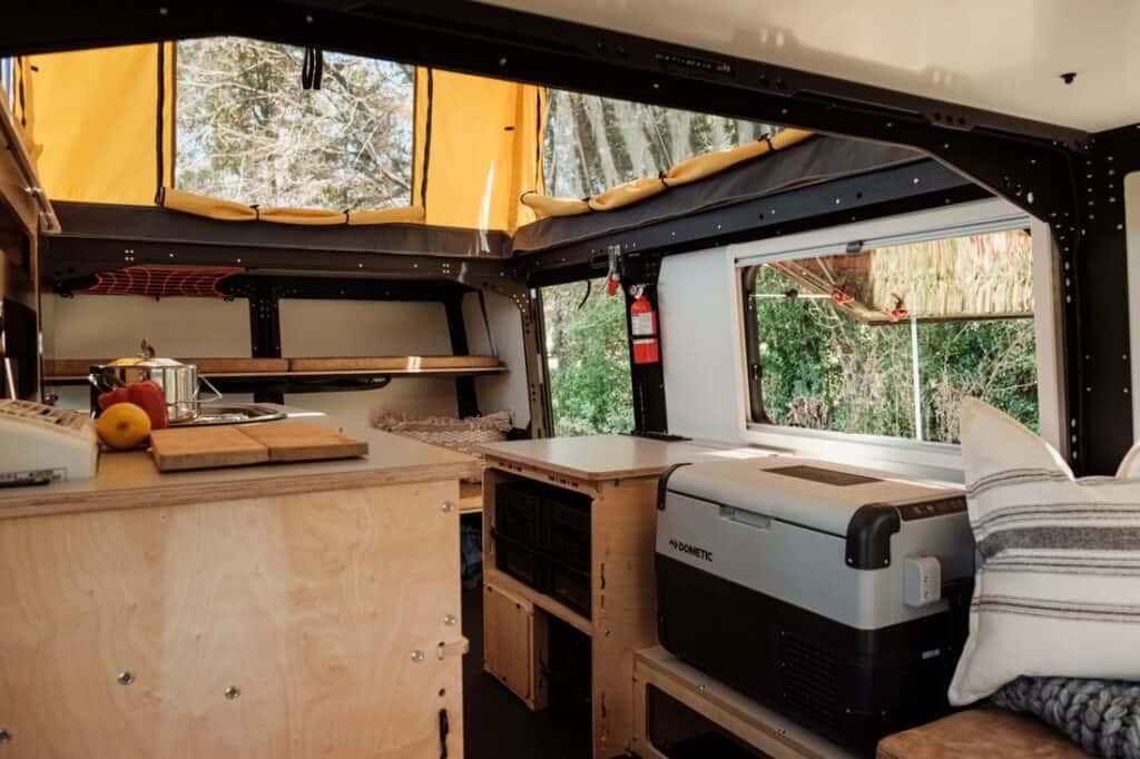Interior of Taxa camper.