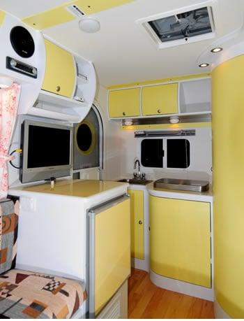 Interior of iCamp Elite camper.