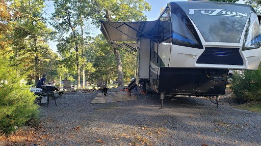 Campsites at Endless Caverns RV Resort are spacious and shaded