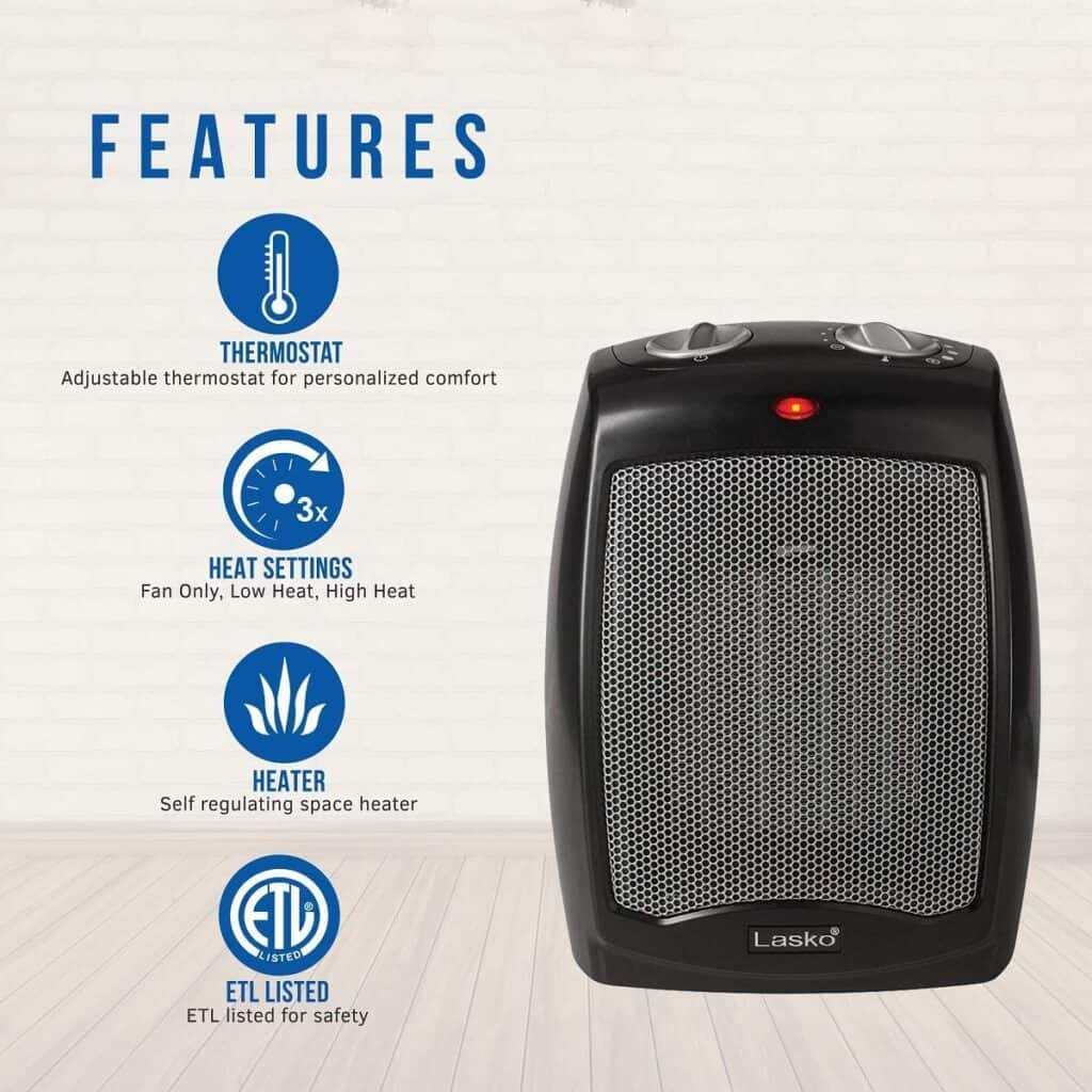 Feature graphic for electric heaters.
