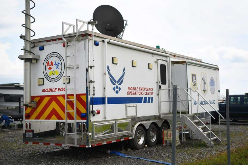 RV serves as Mobile emergency operations center.