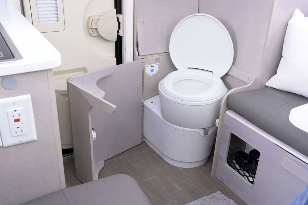 nuCamp RV toilet system