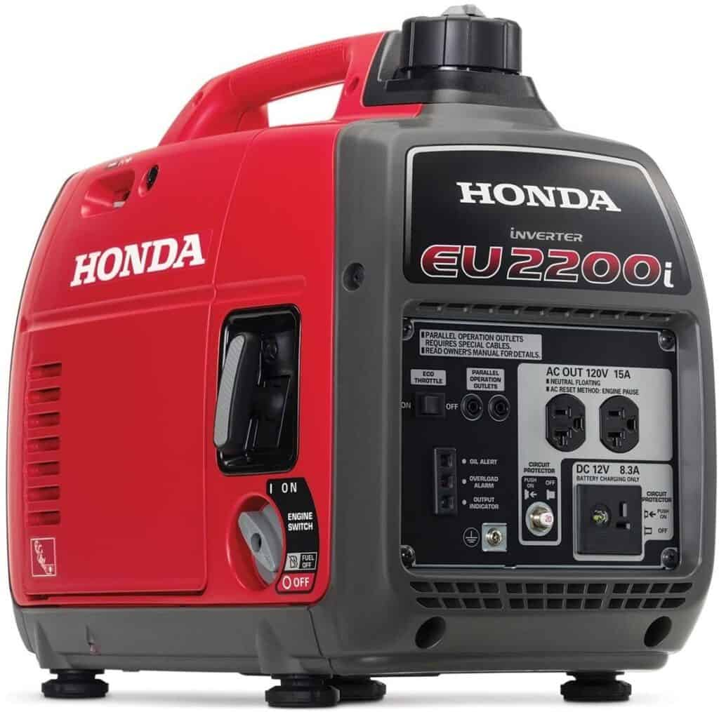 A Honda EU2200 portable generator