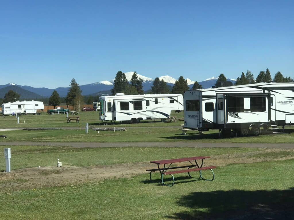 It may seem like you have a football field in which to park your RV but there are still obstacles in the way