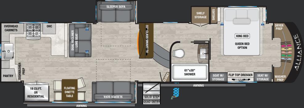 Alliance RV Paradigm 372RX Floorplan