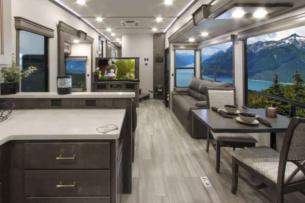 The Paradigm interior is spacious and modern