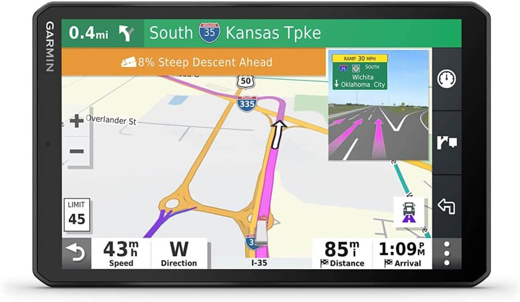 The Garmin OTR800 RV GPS