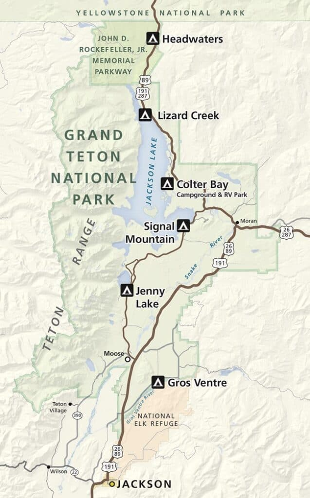 campgrounds in Grand Teton National Park