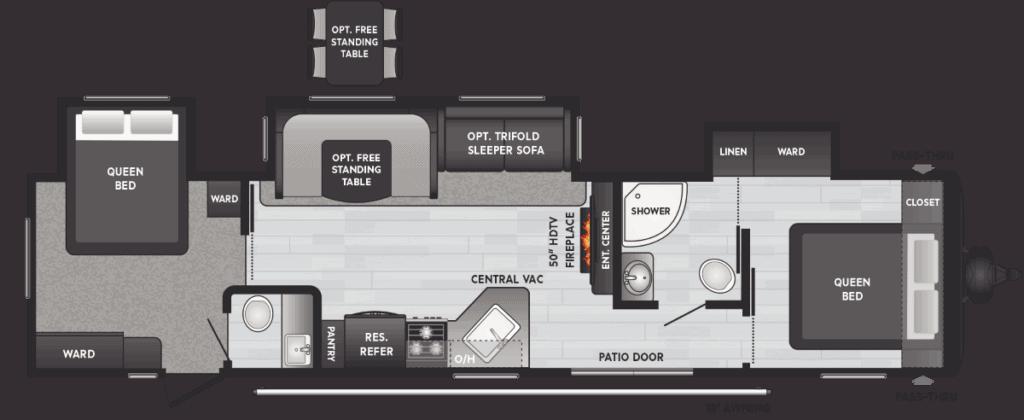 2 bedroom rv - hideout travel trailer