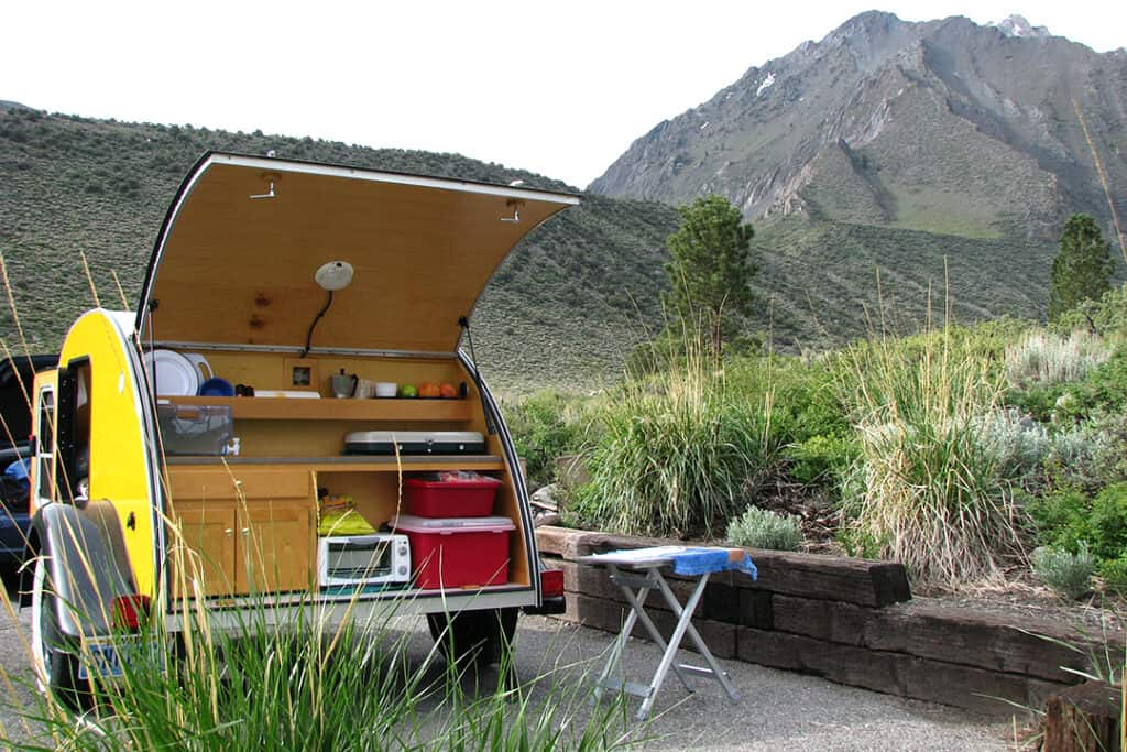 teardrop trailer galley kitchen