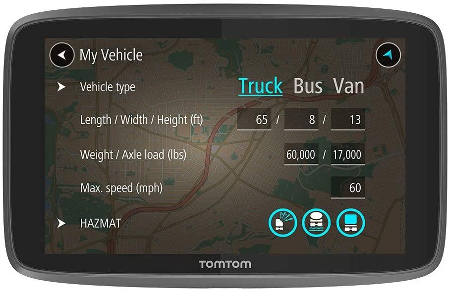 TomTom RV GPS for Trucks