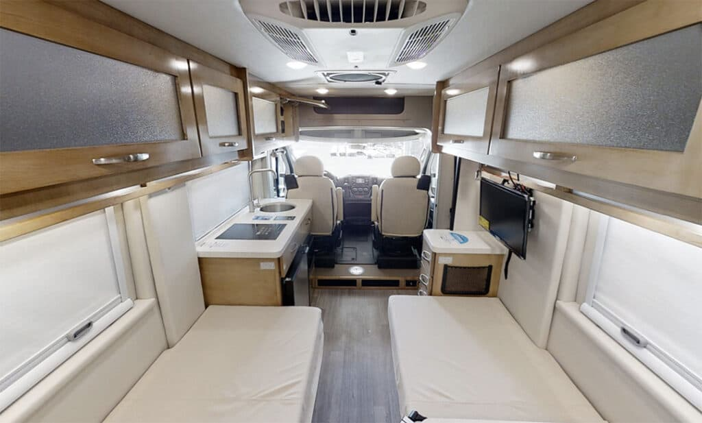 Coachmen Nova interior with twin beds