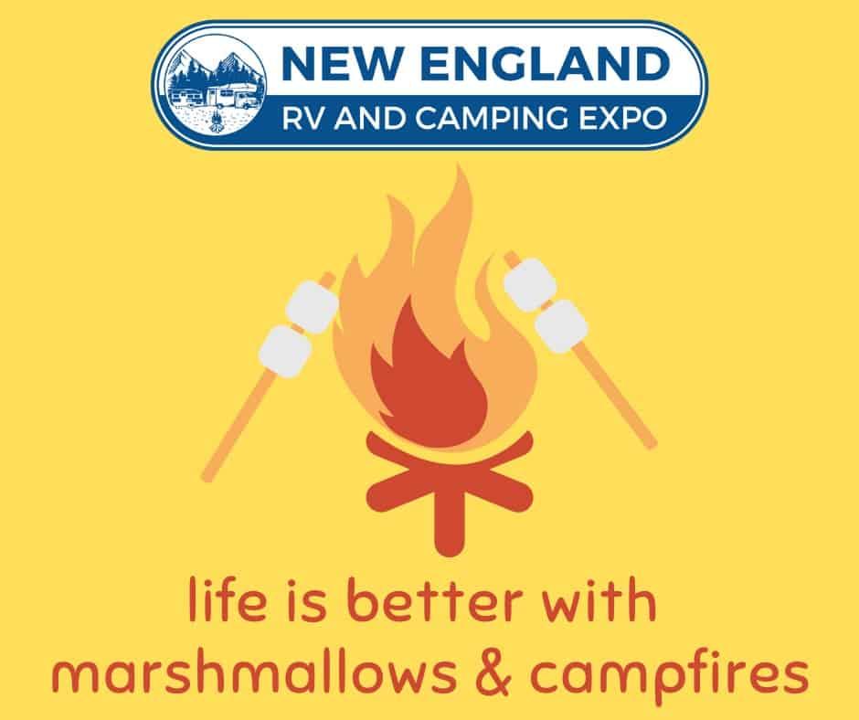 New England RV & Camping Expo logo and insignia.