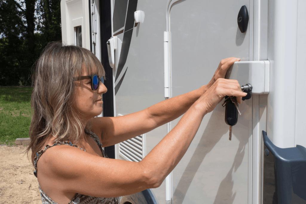 Upgraded camper door lock - camper door lock