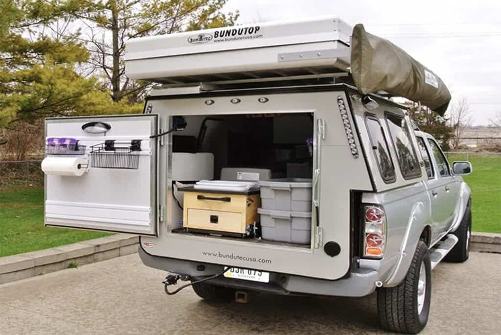 back of the Ford F-150 truck camper