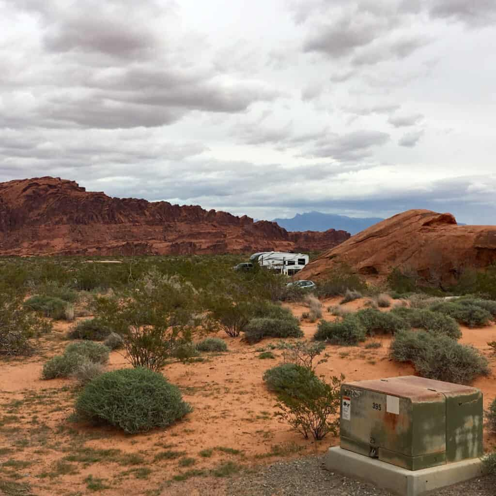 Campsite in Valley of Fire State Park