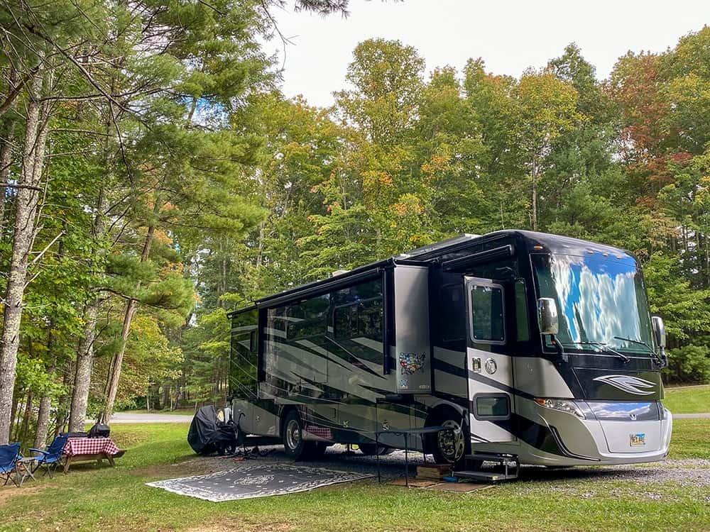 Motorhome in campsite