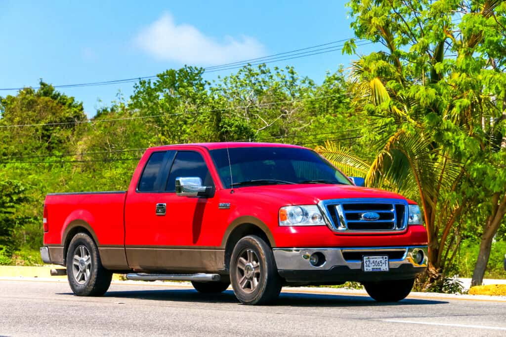 red Ford F-150