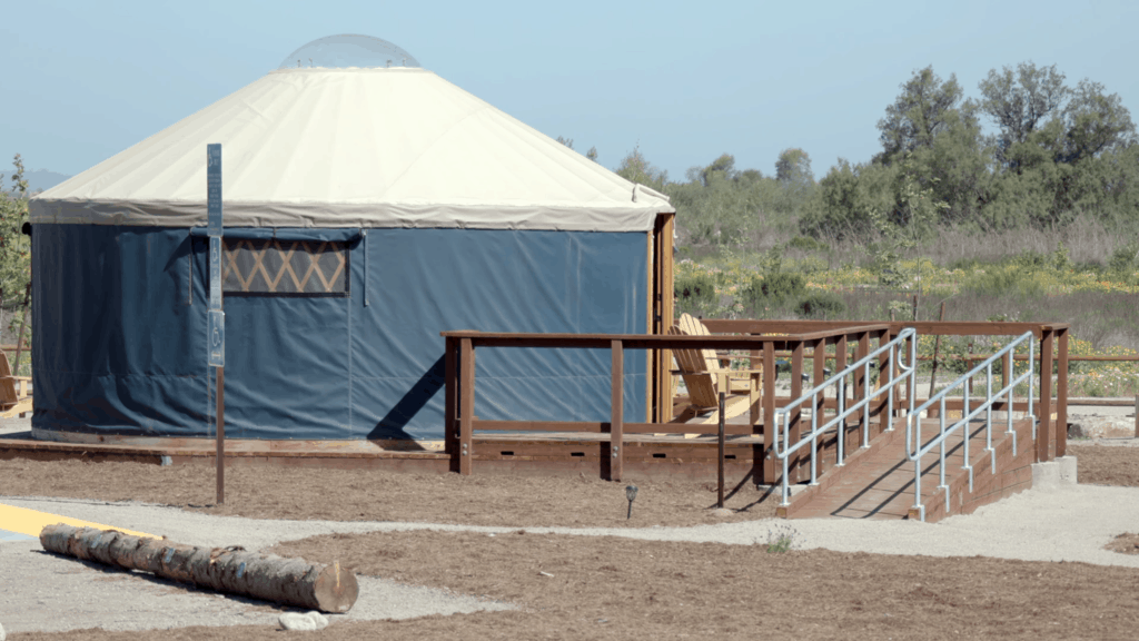 yurt at a family friendly campground