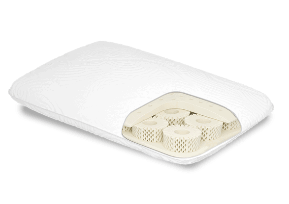 A Cutaway showing the Octasprings and memory foam layer of the True Evolution Pillow from Dormeo®