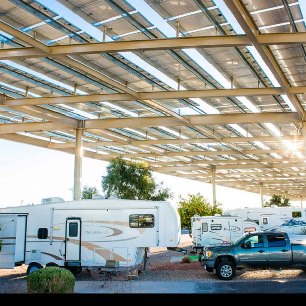 solar power over campsites