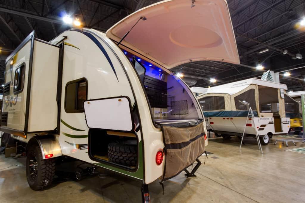 camper at RV shows 2021