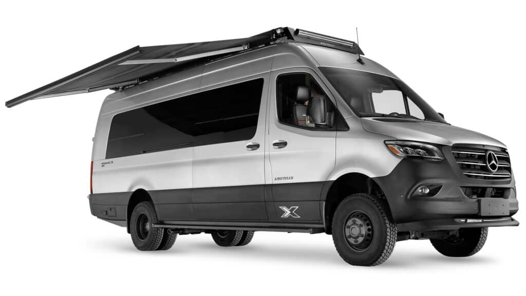 Stock exterior photo of the Airstream Interstate 24X